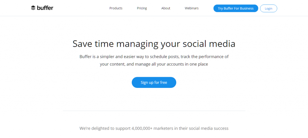 Buffer for Social Media Management
