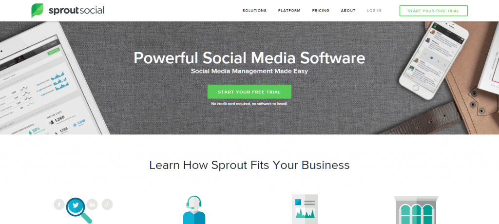 Sprout Social SM Management Software