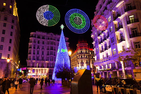 christmas tree madrid spain