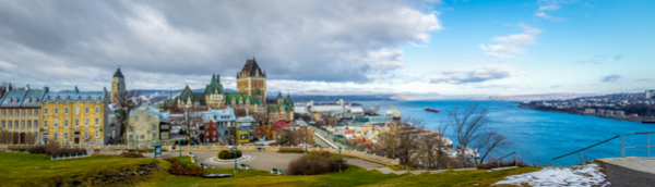 Quebec City skyline with Chateau Frontenac and Saint Lawrence river - Quebec City, Quebec, Canada