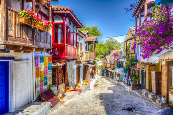 kas turkey local colorful streets