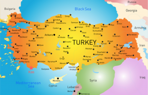 kas turkey map