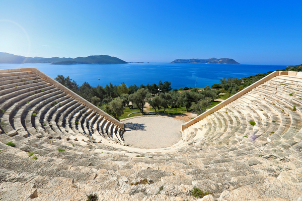 kas turkey ancient theatre